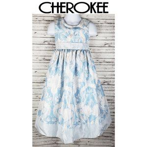 Cherokee Blue Floral Dress Size 5T
